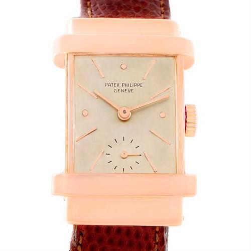 Photo of Patek Philippe Top Hat Vintage 18k Rose Gold Watch 1450