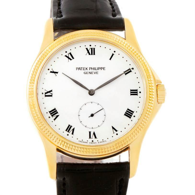 7731 Patek Philippe Calatrava 18k Yellow Gold Watch 5115 Papers SwissWatchExpo