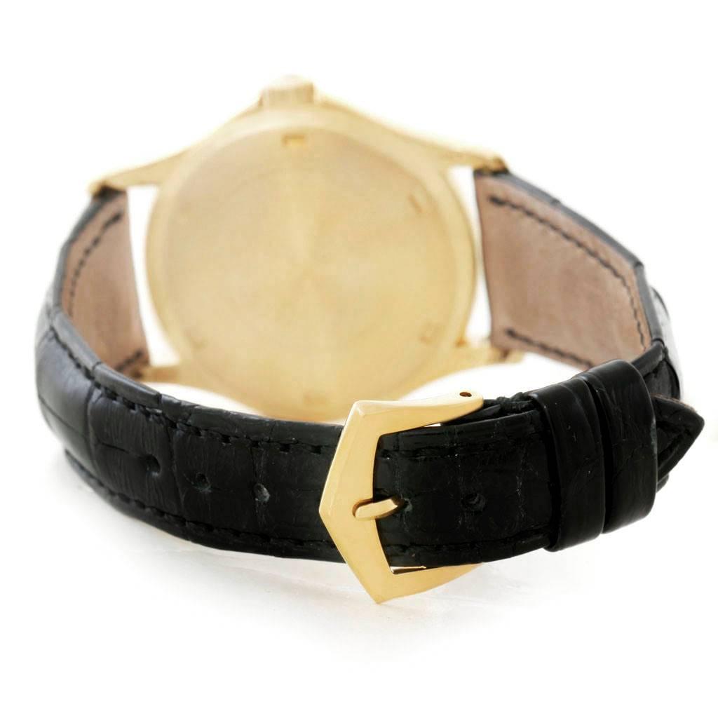 Patek Philippe Calatrava 18k Yellow Gold Watch 5115 Papers SwissWatchExpo