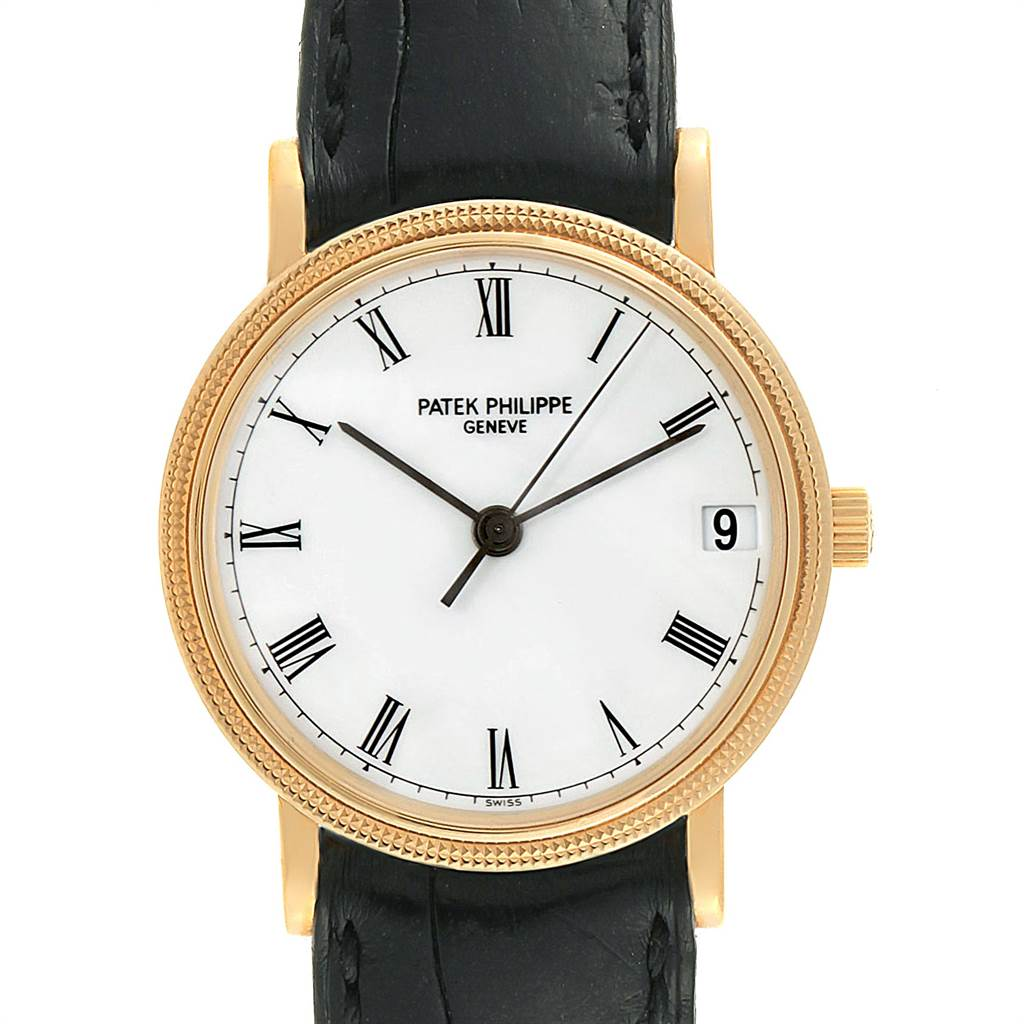 Patek Philippe Calatrava 33mm Yellow Gold Automatic Mens Watch 3802 SwissWatchExpo