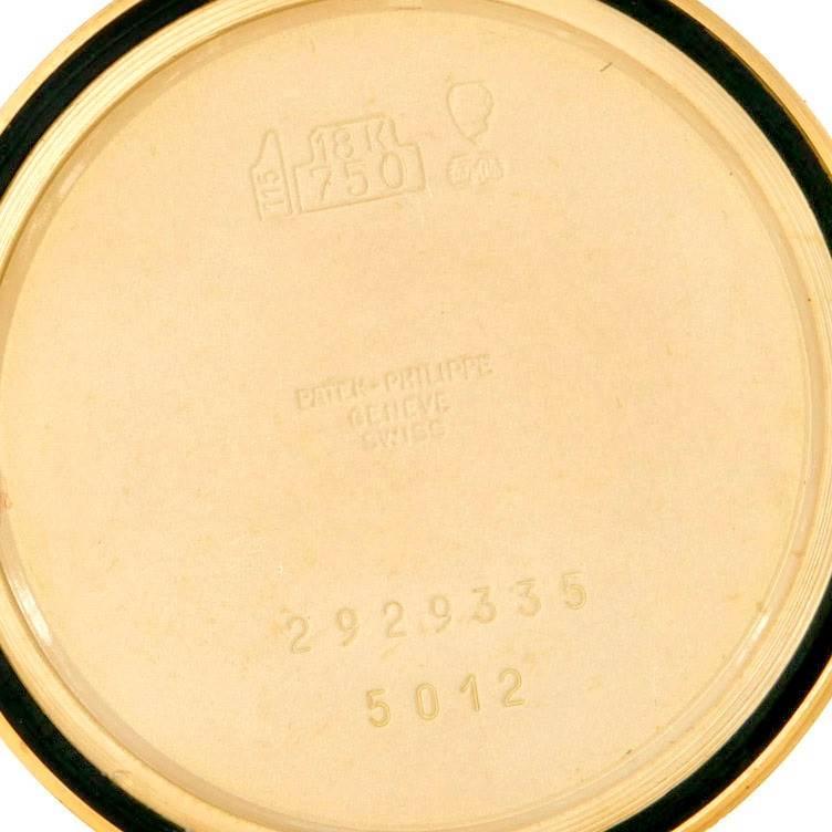 7683 Patek Philippe Calatrava 18k Yellow Gold Automatic Watch 5012 Papers SwissWatchExpo
