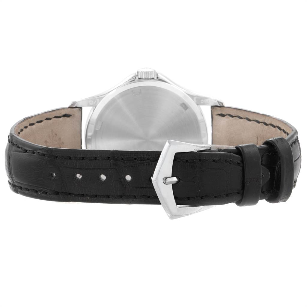 7697 Patek Philippe Calatrava 35mm White Gold Hobnail Bezel Mens Watch 5115 Papers SwissWatchExpo
