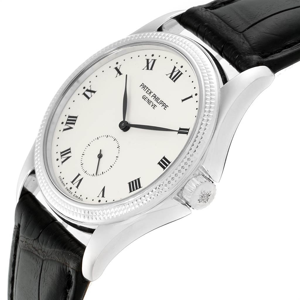 Patek Philippe Calatrava 35mm White Gold Hobnail Bezel Mens Watch 5115 Papers SwissWatchExpo