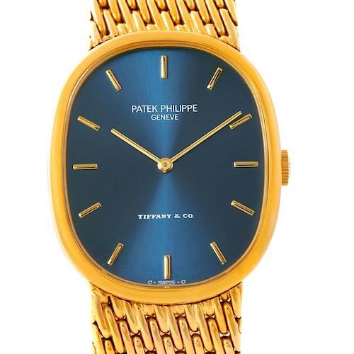 Photo of Patek Philippe Tiffany Golden Ellipse 18k Yellow Gold Watch 3848