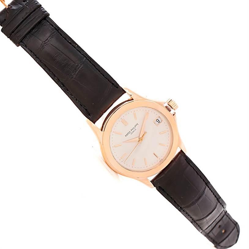 8046 Patek Philippe Calatrava 18k Rose Gold Watch 5107R Box Papers SwissWatchExpo