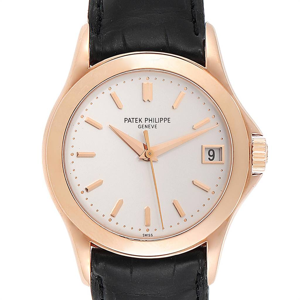 Patek Philippe Calatrava Automatic Rose Gold Mens Watch 5107 Box Papers