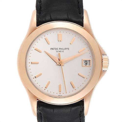 Photo of Patek Philippe Calatrava Automatic Rose Gold Mens Watch 5107 Box Papers