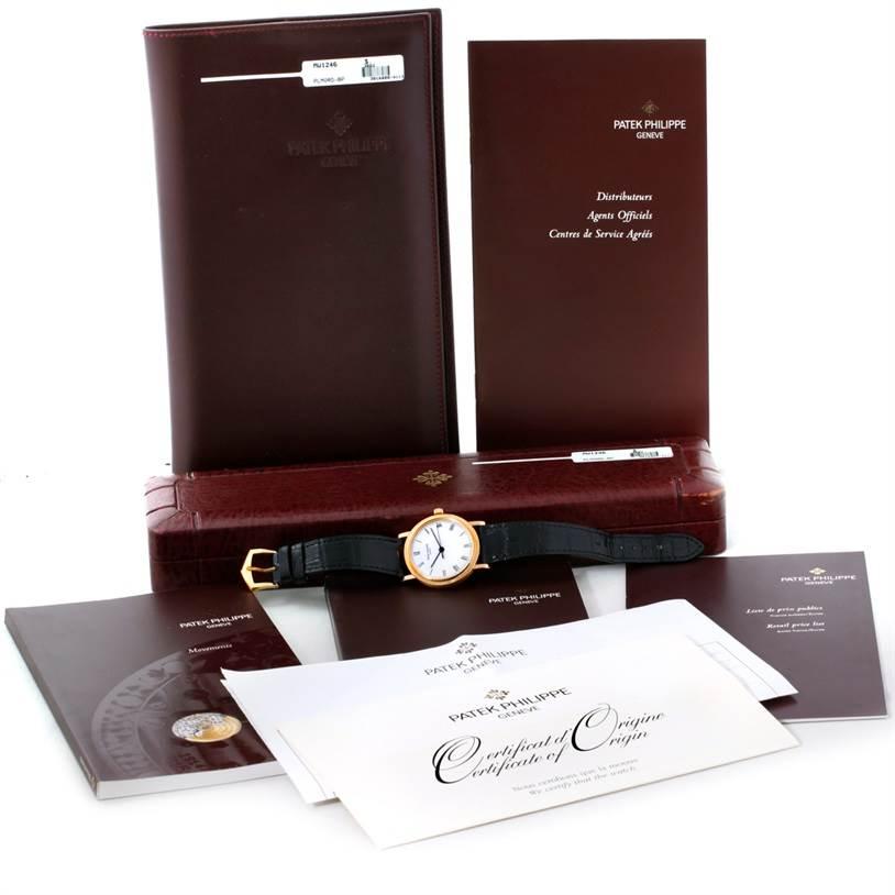 8706 Patek Philippe Calatrava 18k Yellow Gold Watch 3802 SwissWatchExpo
