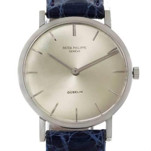 Photo of Patek Philippe Calatrava Vintage 18k White Gold Ultra Thin Watch 3512