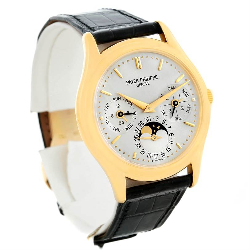 8918P Patek Philippe Perpetual Calendar 18K Yellow Gold Watch 3940 Papers SwissWatchExpo
