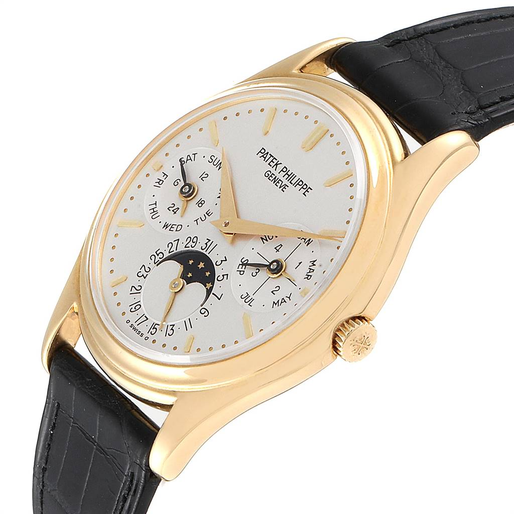 Patek Philippe Perpetual Calendar 18K Yellow Gold Watch 3940 Papers SwissWatchExpo