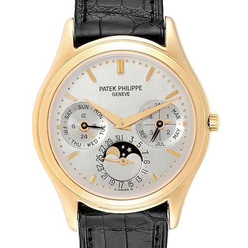 Photo of Patek Philippe Perpetual Calendar 18K Yellow Gold Watch 3940 Papers
