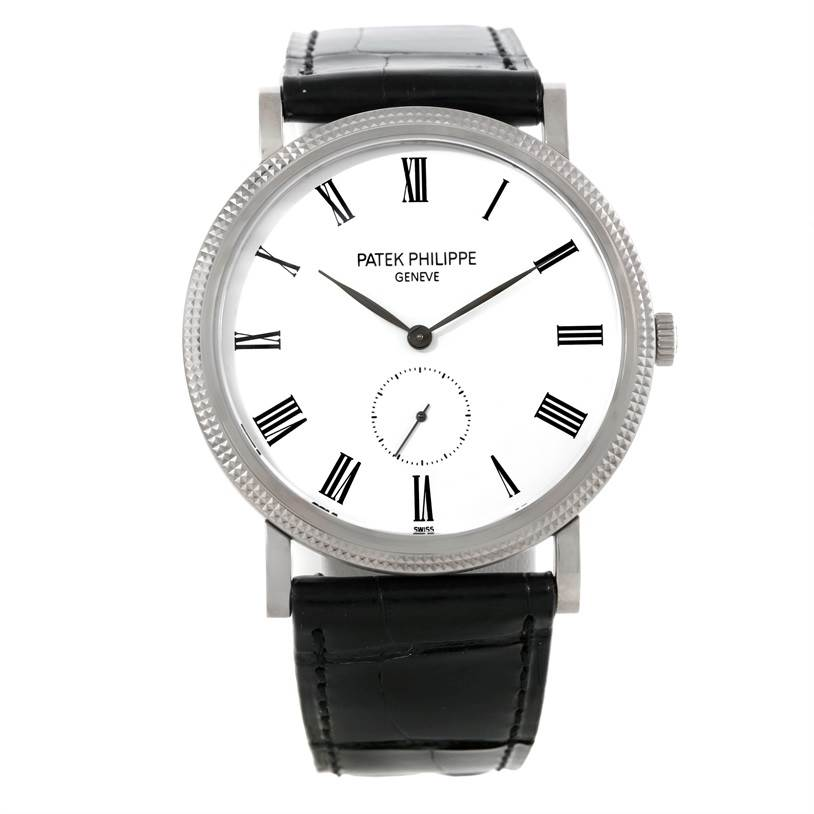 9025P Patek Philippe Calatrava 18k White Gold Manual Winding Watch 5119G SwissWatchExpo