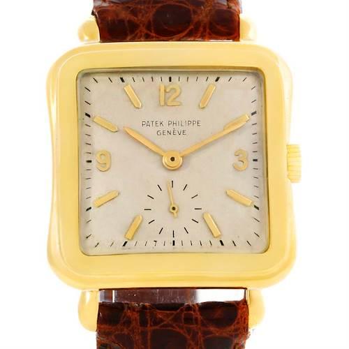 Photo of Patek Philippe Vintage 18k Yellow Gold Manual Winding Watch 2493
