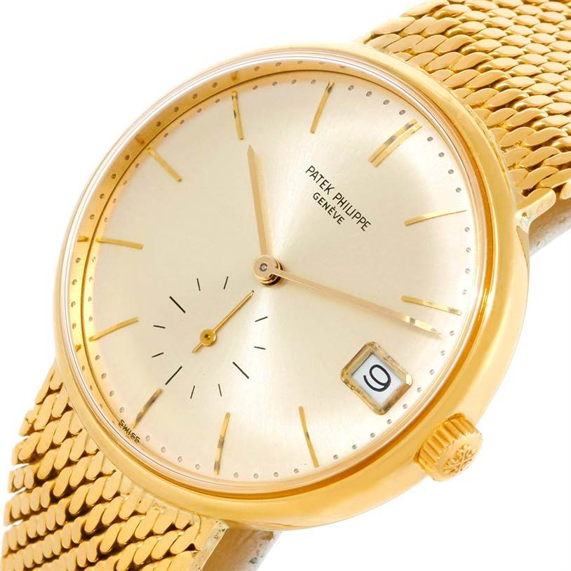 9589 Patek Philippe Calatrava Vintage Automatic 18k Yellow Gold Watch 3514 SwissWatchExpo