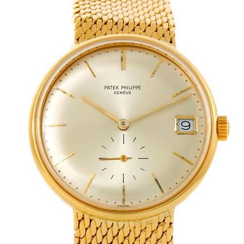 Photo of Patek Philippe Calatrava Vintage Automatic 18k Yellow Gold Watch 3514