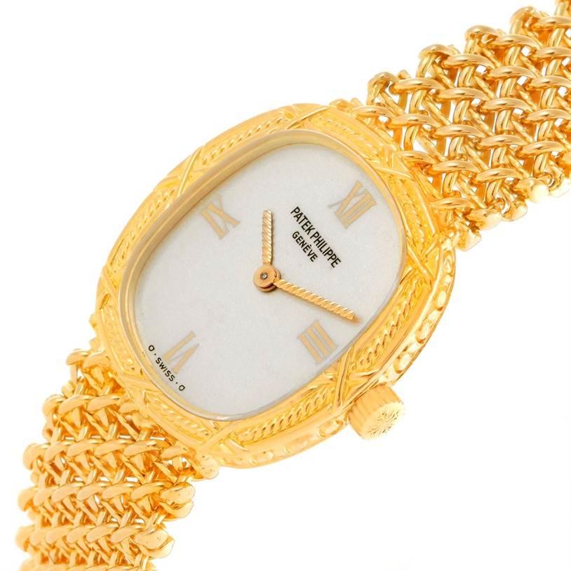 10562 Patek Philippe Vintage 18k Yellow Gold Ladies Watch 4523/1 SwissWatchExpo