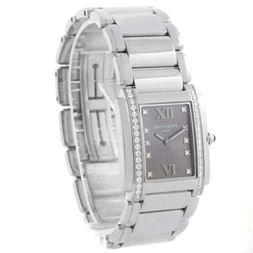 11601 Patek Philippe Twenty-4 Diamond Ladies Watch 4910/10A-010 Box Papers SwissWatchExpo