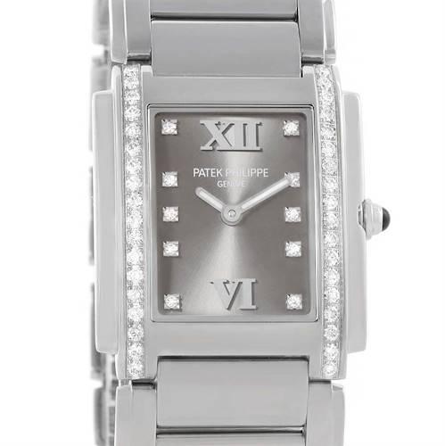 Photo of Patek Philippe Twenty-4 Diamond Ladies Watch 4910/10A-010 Box Papers