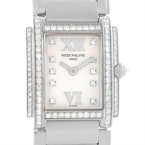 Photo of Patek Philippe Twenty-4 18K White Gold Diamond Ladies Watch 4908/200G-011