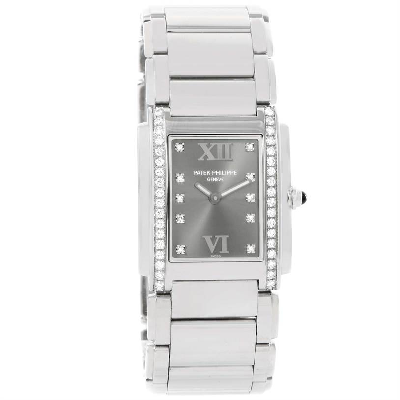 Patek Philippe Twenty-4 Grey Diamond Dial Ladies Watch 4910/10A-010 SwissWatchExpo