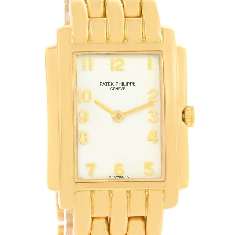Patek Philippe Gondolo Ladies 18K Yellow Gold Quartz Watch 4824