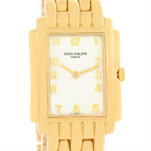 Photo of Patek Philippe Gondolo Ladies 18K Yellow Gold Quartz Watch 4824