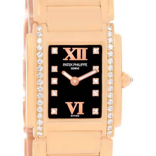 Photo of Patek Philippe Twenty-4 Small 18K Rose Gold Diamond Watch 4908/11R