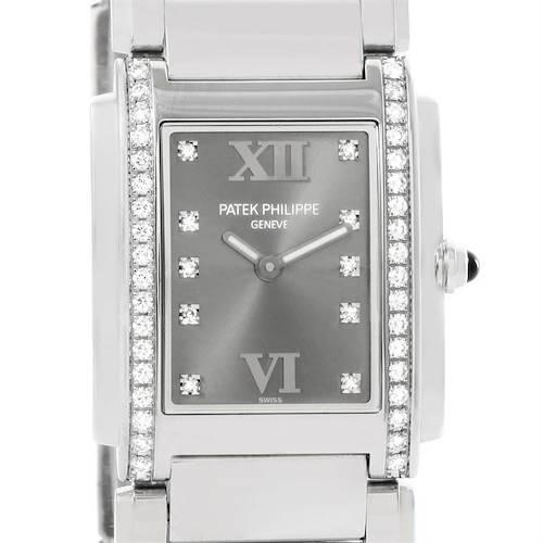 Photo of Patek Philippe Twenty-4 Grey Diamond Dial Ladies Watch 4910/10A-010