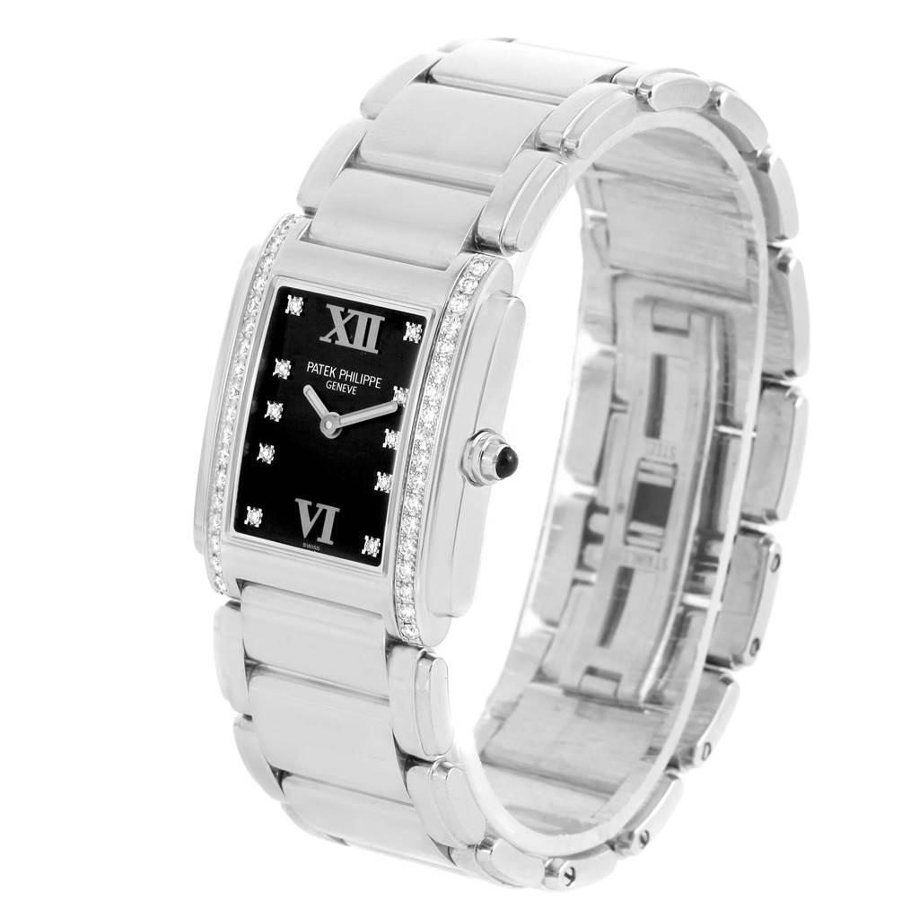 Patek Philippe Twenty 4 Black Dial Diamond Ladies Watch 4910/10A-001 SwissWatchExpo
