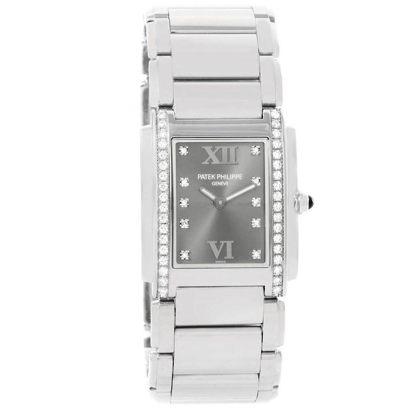 Patek Philippe Twenty-4 Grey Diamond Dial Ladies Watch 4910/10A-010 SwissWatchExpo