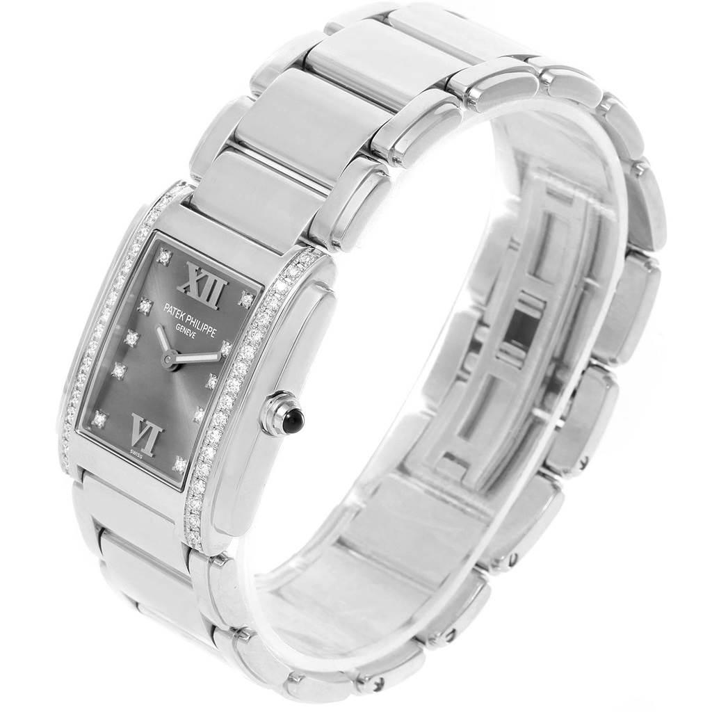14121P Patek Philippe Twenty-4 Grey Diamond Dial Ladies Watch 4910/10A-010 SwissWatchExpo
