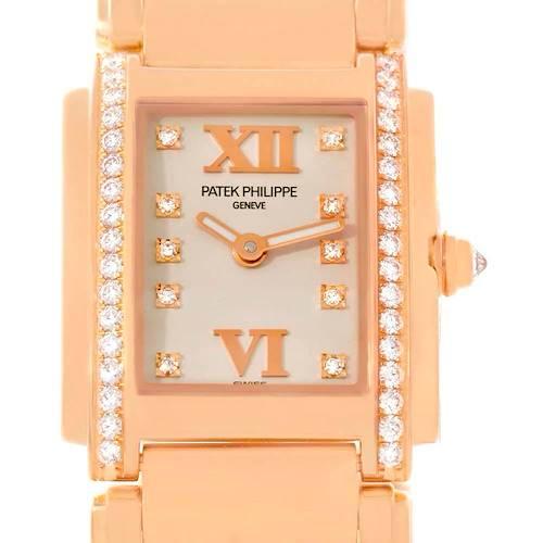 Photo of Patek Philippe Twenty-4 18K Rose Gold Diamond Ladies Watch 4910