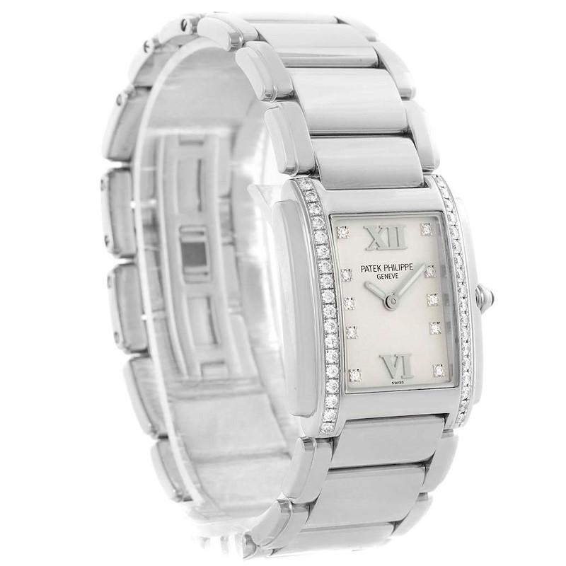 Patek Philippe Twenty-4 Stainless Steel Diamond Ladies Watch 4910 SwissWatchExpo
