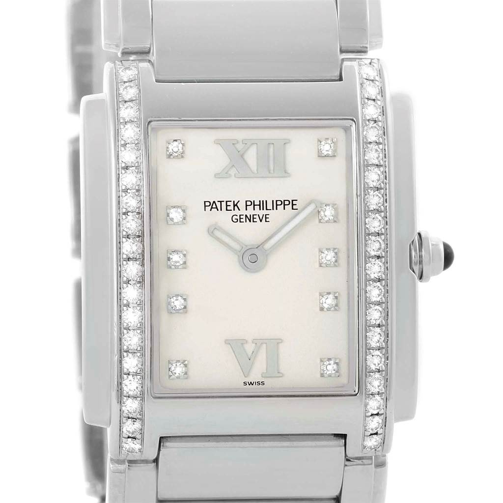Patek Philippe Twenty-4 Stainless Steel Diamond Ladies Watch 4910