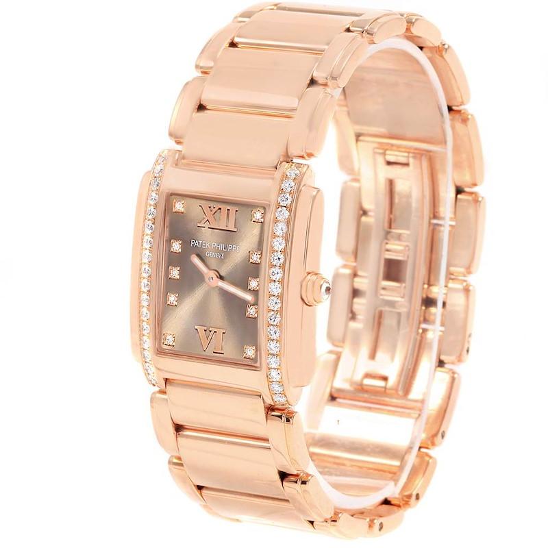 Patek Philippe Twenty-4 Rose Gold Diamond Ladies Watch 4910 Box Papers SwissWatchExpo