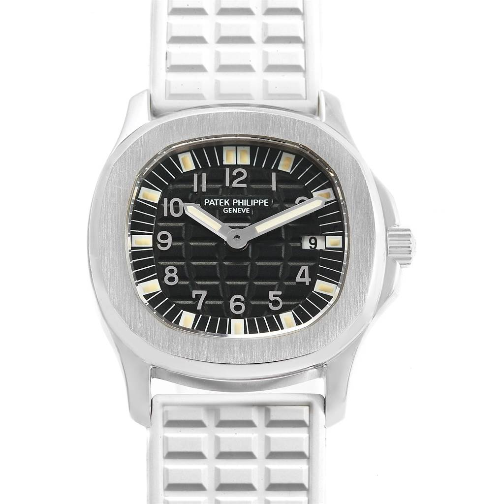 Patek Philippe Aquanaut Steel White Rubber Strap Ladies Watch 4960