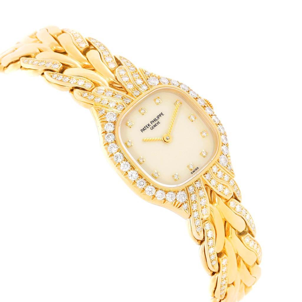 Patek Philippe La Flamme 18k Yellow Gold Diamond Ladies Watch 4815/3 SwissWatchExpo