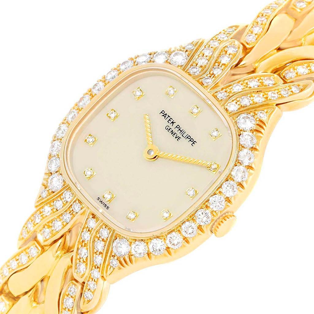19810 Patek Philippe La Flamme 18k Yellow Gold Diamond Ladies Watch 4815/3 SwissWatchExpo