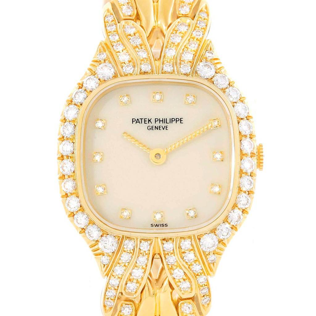 Patek Philippe La Flamme 18k Yellow Gold Diamond Ladies Watch 4815/3