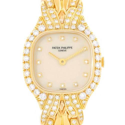 Photo of Patek Philippe La Flamme 18k Yellow Gold Diamond Ladies Watch 4815/3