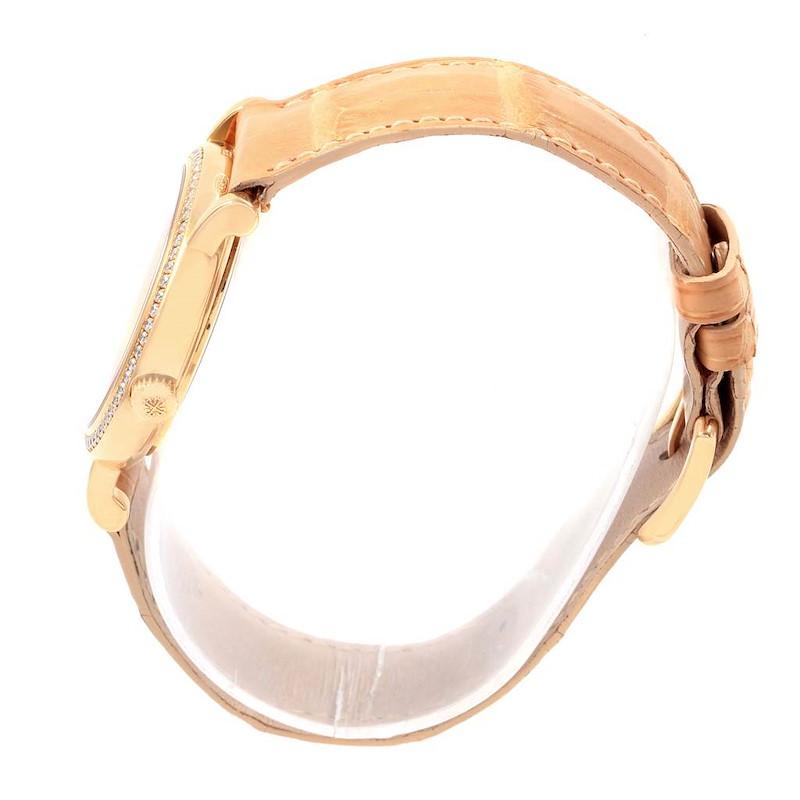 Patek Philippe Calatrava Yellow Gold MOP Diamond Ladies Watch 4959 SwissWatchExpo