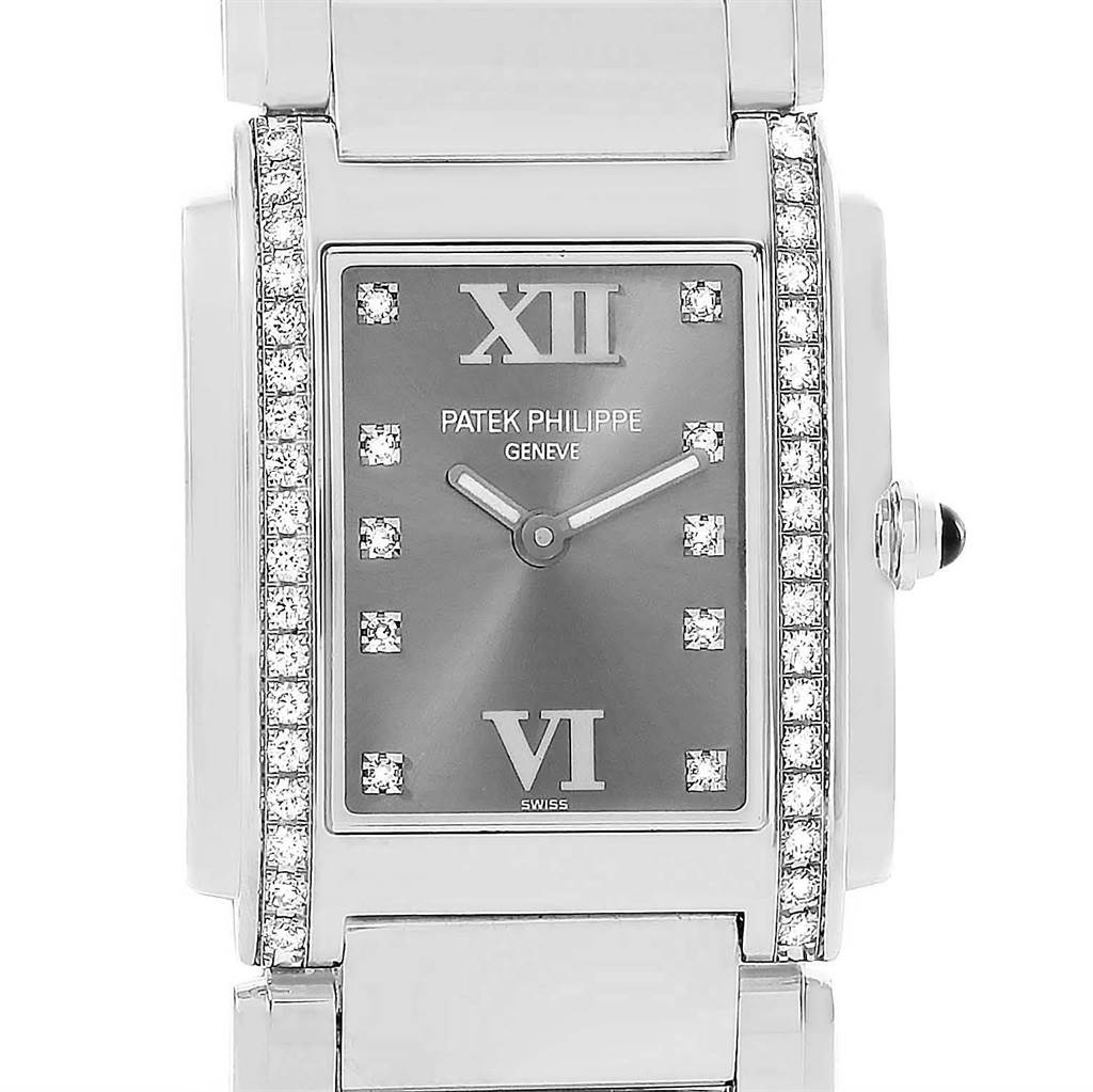 Patek Philippe Twenty-4 Grey Diamond Dial Ladies Watch 4910/10A-010