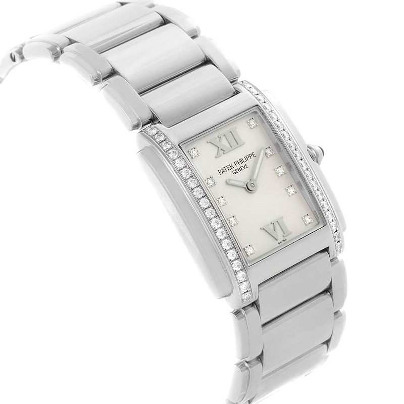 Patek Philippe Twenty-4 Silver Diamond Dial Ladies Watch 4910 SwissWatchExpo