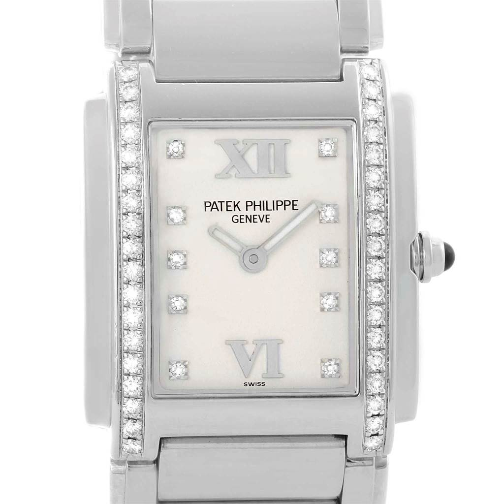 Patek Philippe Twenty-4 Silver Diamond Dial Ladies Watch 4910