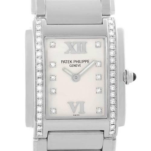 Photo of Patek Philippe Twenty-4 Silver Diamond Dial Ladies Watch 4910