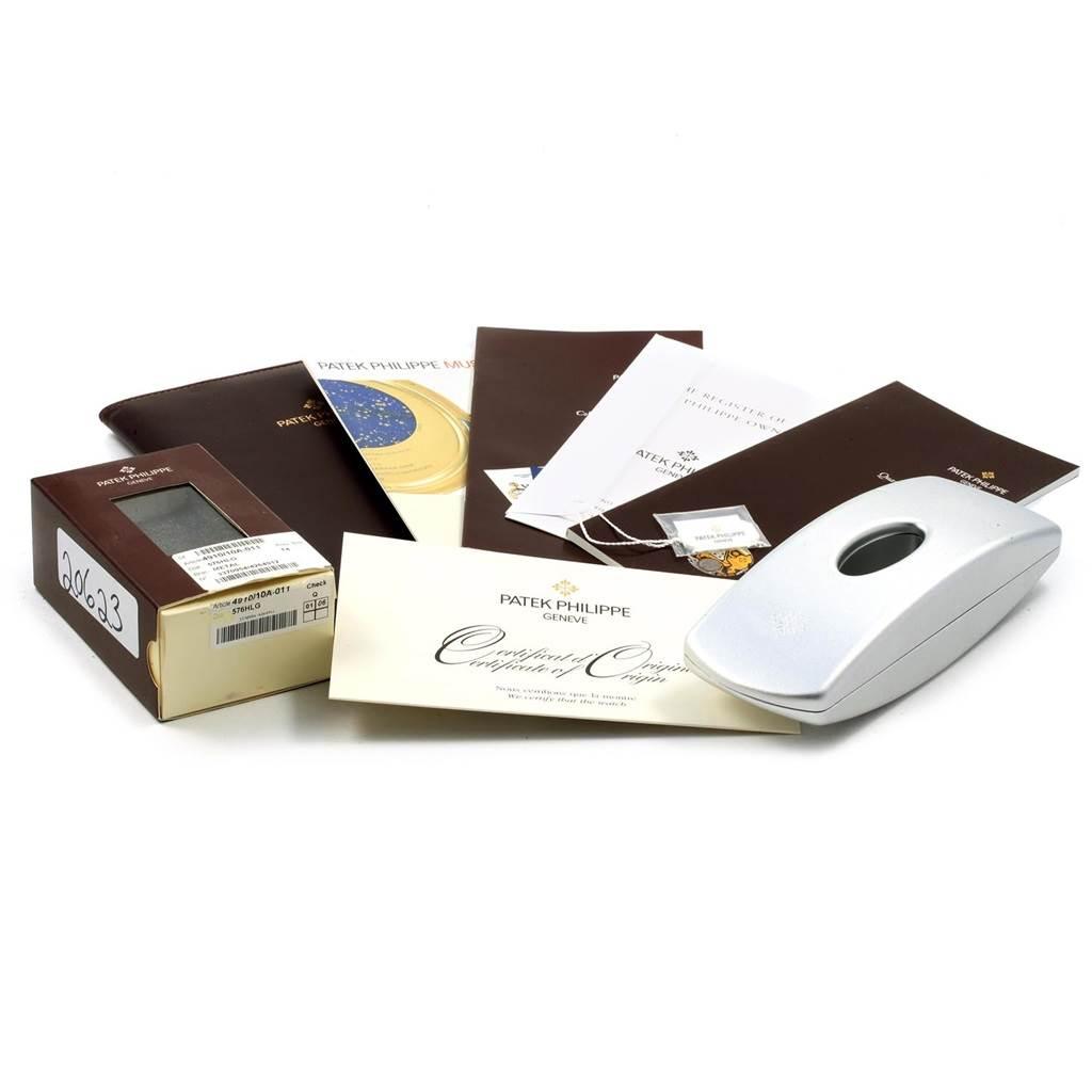 Patek Philippe Twenty-4 Silver Diamond Dial Ladies Watch 4910 Box Papers SwissWatchExpo