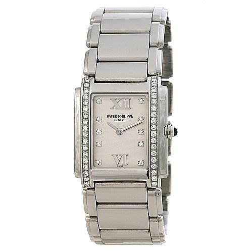 Patek Philippe Ladies Quartz Diamond Twenty-4 4910 /10a Watch SwissWatchExpo