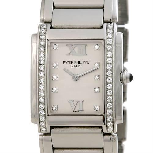 Photo of Patek Philippe Ladies Quartz Diamond Twenty-4 4910 /10a Watch
