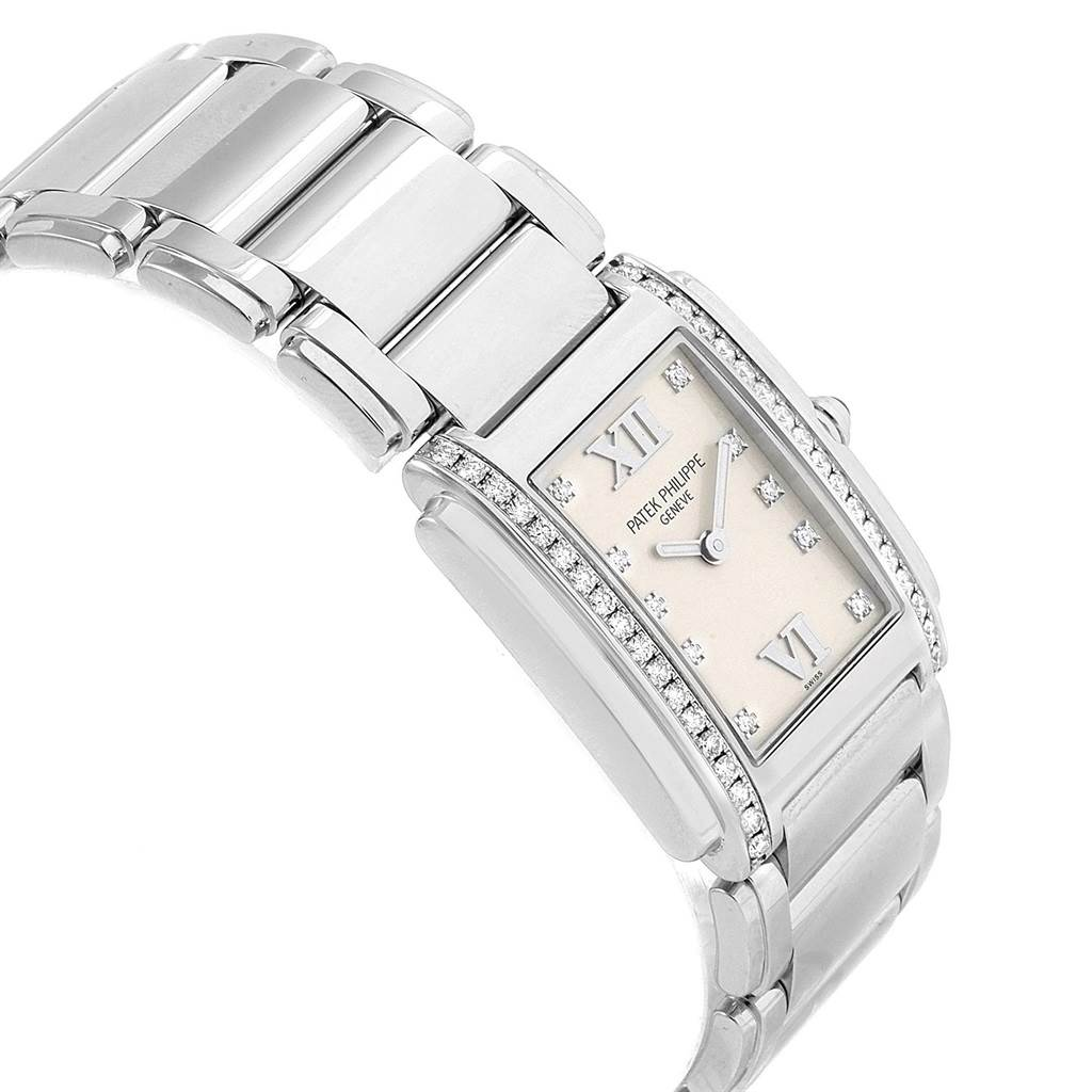 20850 Patek Philippe Twenty-4 Diamond Ladies Quartz Watch 4910/10A-010 SwissWatchExpo